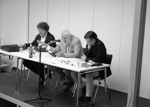 v.l.: G.H. Holländer, Markus Lüpertz und Durs Grünbein