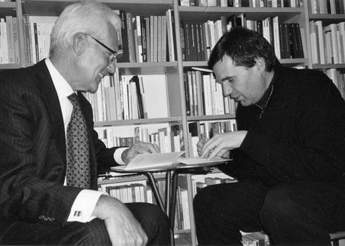 Reinhold Christiani im Gespräch mit Oswald Egger