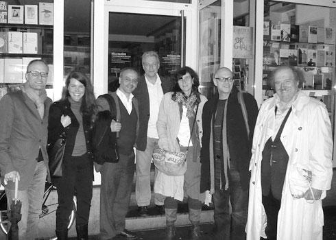 v.l.: Stefan à Wengen, Ariane von Mauerstetten, Valentin Lustig, Rudolf Müller, Sibylle Jud, Beat Wismer, Urs Widmer